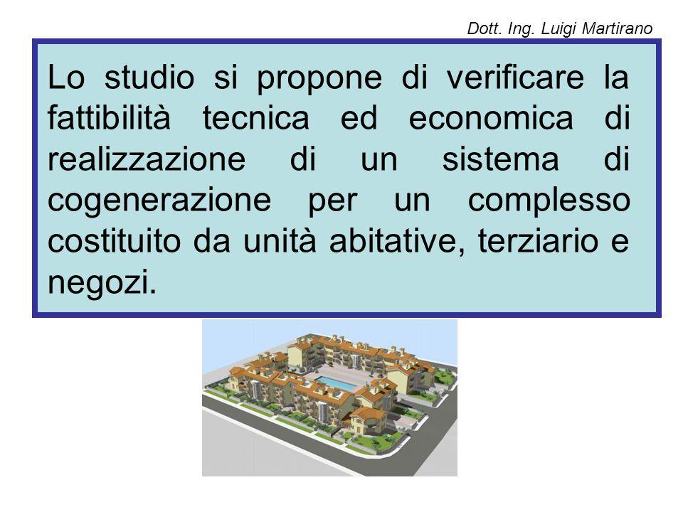 Lo studio si propone di verificare la fattibilità tecnica ed economica di realizzazione di un sistema di cogenerazione per un complesso costituito da