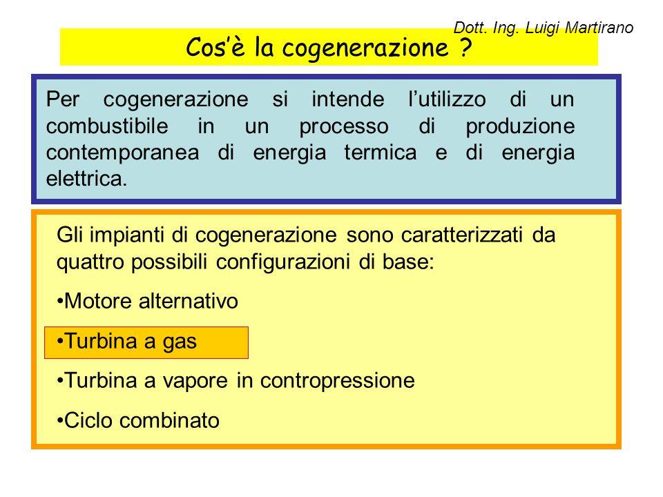 Cos'è la cogenerazione ? Per cogenerazione si intende l'utilizzo di un combustibile in un processo di produzione contemporanea di energia termica e di
