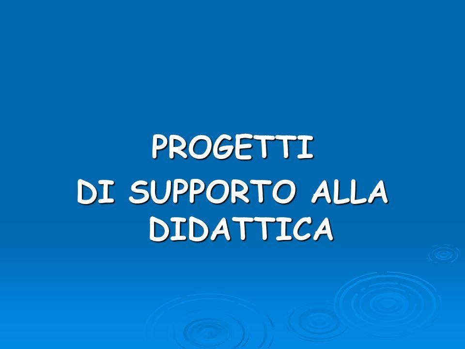 PROGETTI DI SUPPORTO ALLA DIDATTICA