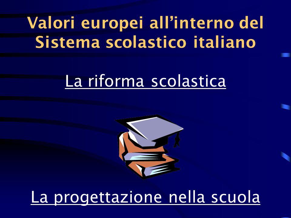 La riforma scolastica in Italia Finalità educative Caratteristiche culturali Strumenti didattici