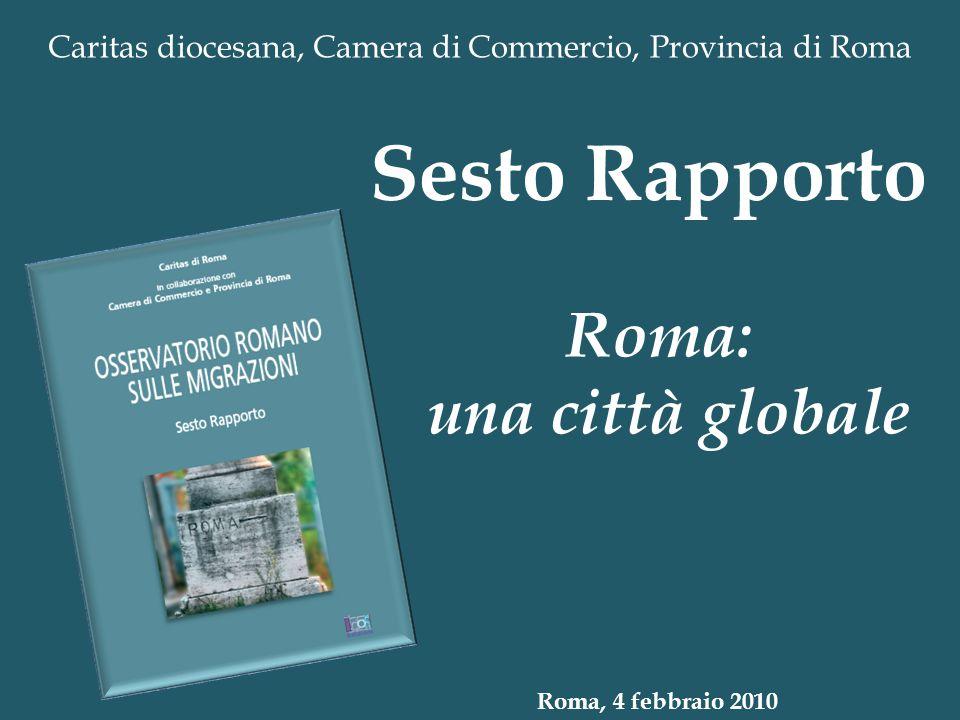 Caritas diocesana, Camera di Commercio, Provincia di Roma Roma: una città globale Sesto Rapporto Roma, 4 febbraio 2010