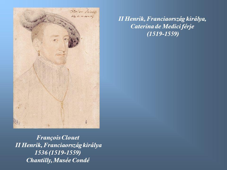 François Clouet II Henrik, Franciaország királya 1536 (1519-1559) Chantilly, Musée Condé II Henrik, Franciaország királya, Caterina de Medici férje (1