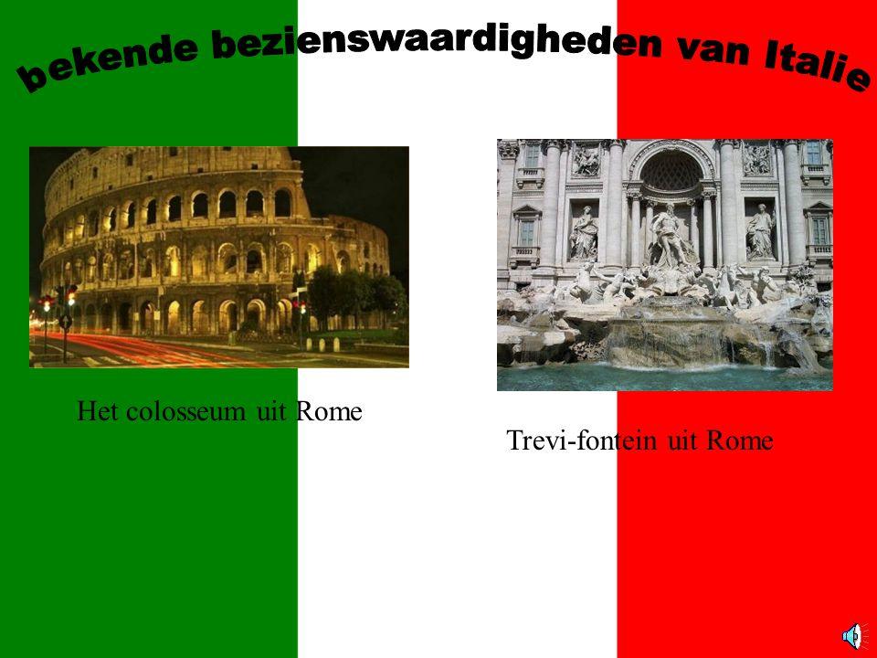 Het colosseum uit Rome Trevi-fontein uit Rome