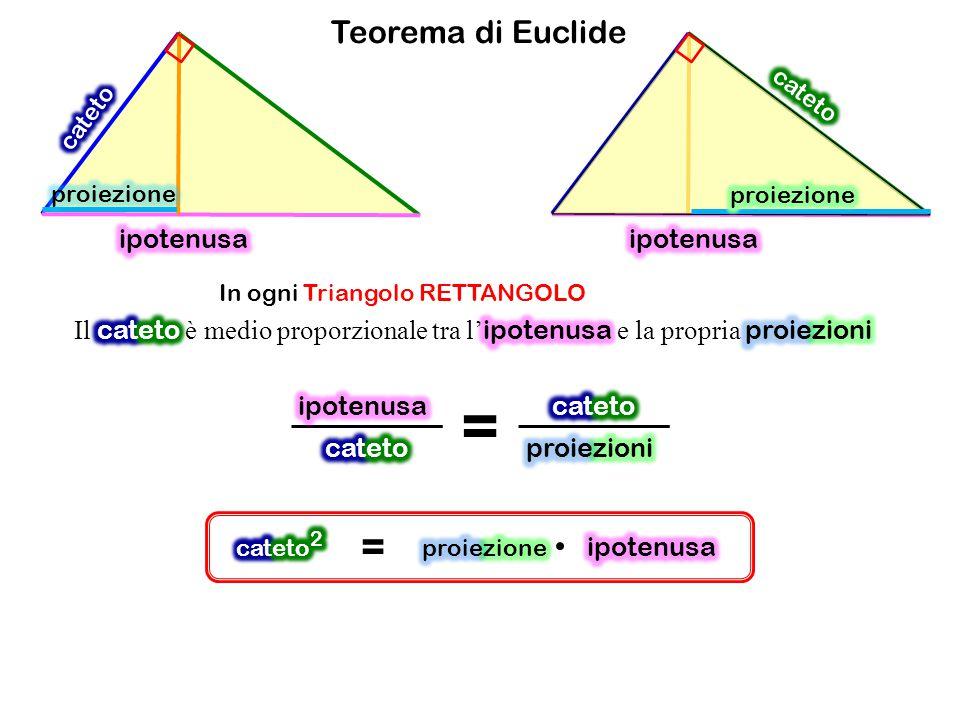 Teorema di Euclide In ogni Triangolo RETTANGOLO