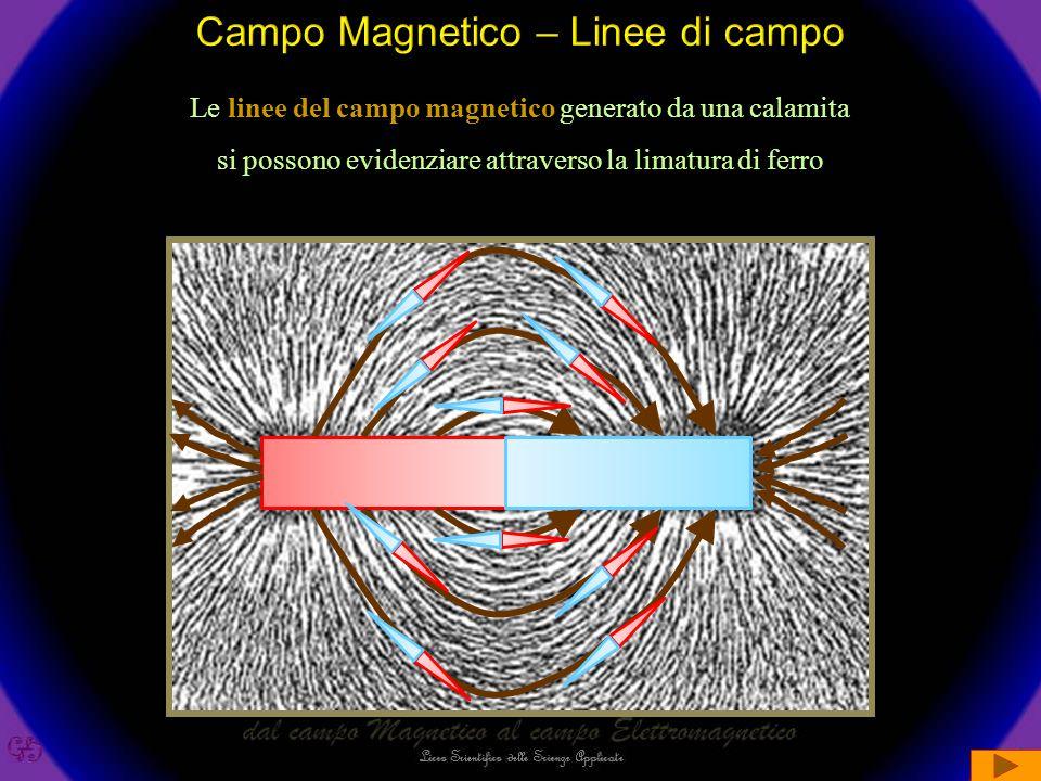 Magnetismo Polo Sud Polo Nord Campo Magnetico Linee di campo si distingue collegano rappresentato da Oersted Faraday Ampere Filo di corrente genera C.M.