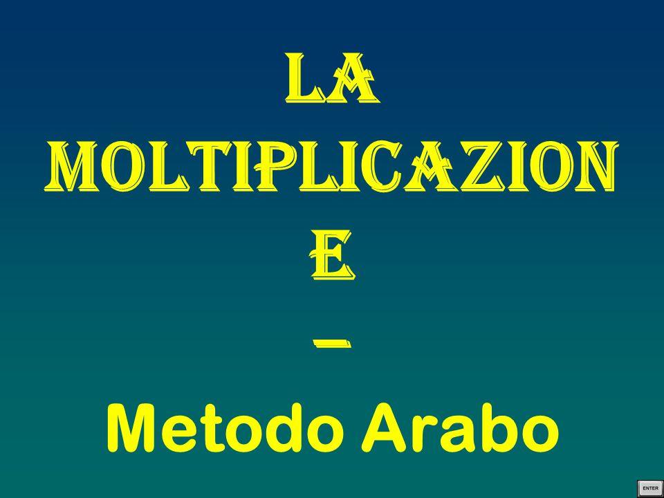 La Moltiplicazion e – Metodo Arabo