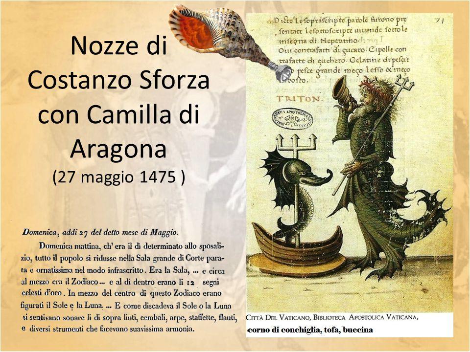 Nozze di Costanzo Sforza con Camilla di Aragona (27 maggio 1475 )