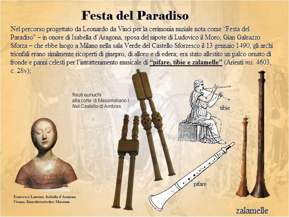 flauti eunuchi alla corte di Massimiliano I Nel Castello di Ambras