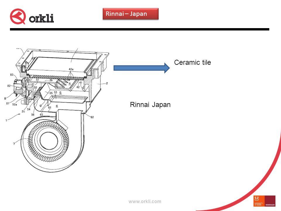 www.orkli.com Ceramic tile Rinnai Japan Rinnai – Japan
