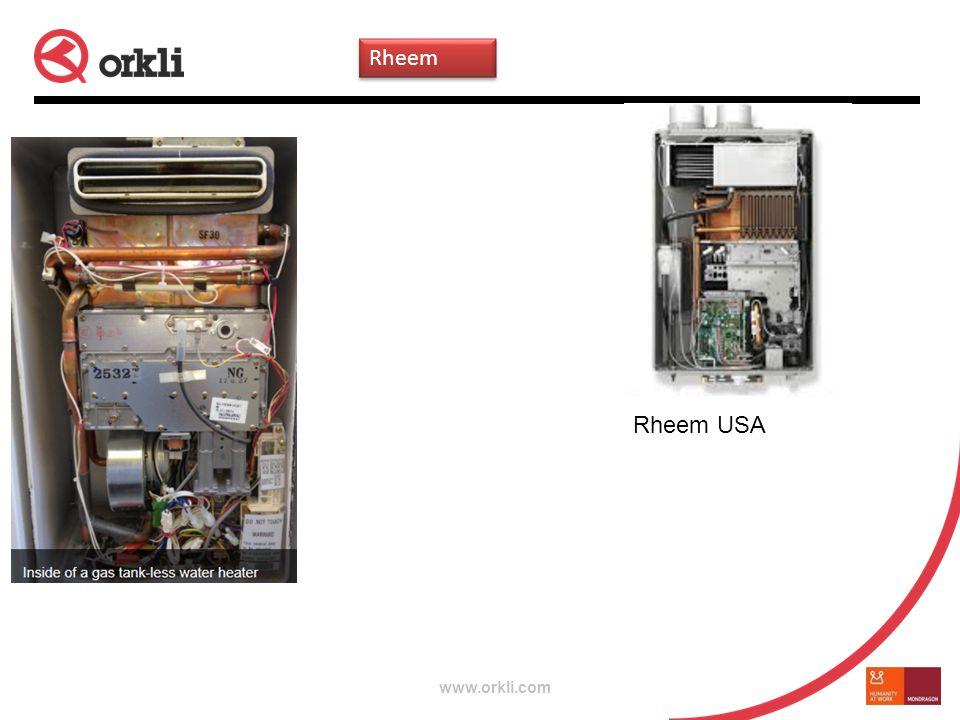 www.orkli.com Rheem USA Rheem