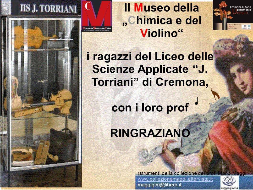 """i ragazzi del Liceo delle Scienze Applicate """"J. Torriani"""" di Cremona, con i loro prof RINGRAZIANO Il Museo della """"Chimica e del Violino"""" (strumenti de"""