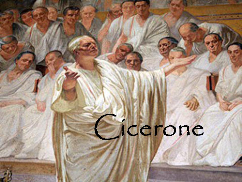 << Io Cicerone illustrissimo uomo, politico, oratore, ma più di tutto filosofo, amico e padre : mi rivelo.