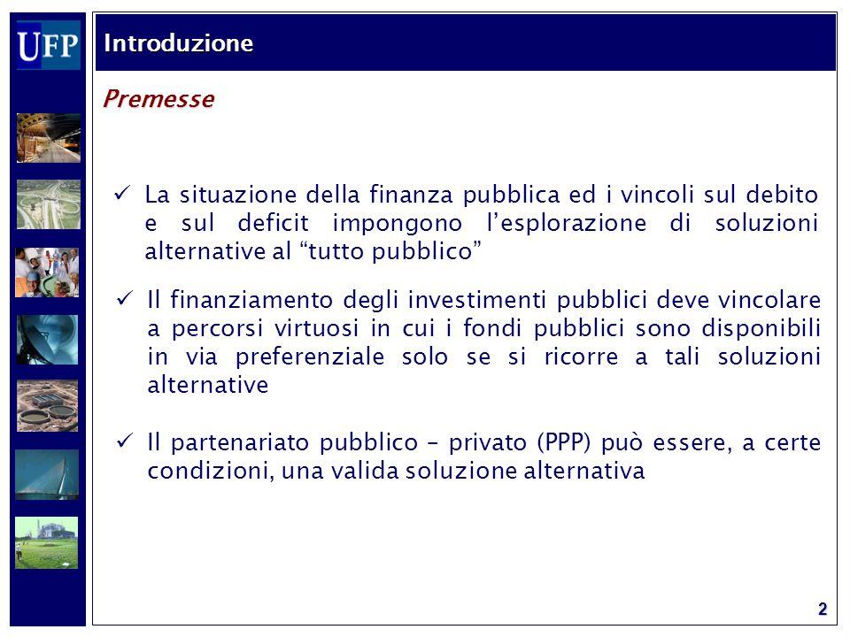 13 La concessione Le modalità di coinvolgimento del settore privato AUTORITA' PROJECT COMPANY PROGETTO Controllo Pagamento Costruzione e gestione Rischio