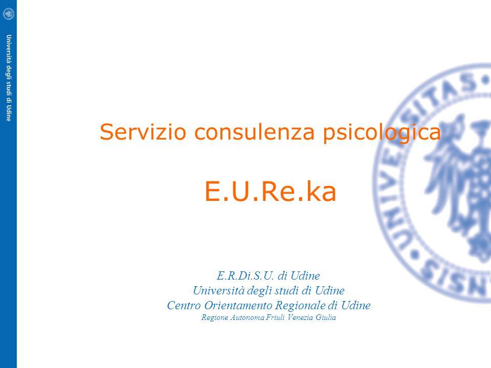 Servizio consulenza psicologica E.U.Re.ka E.R.Di.S.U.