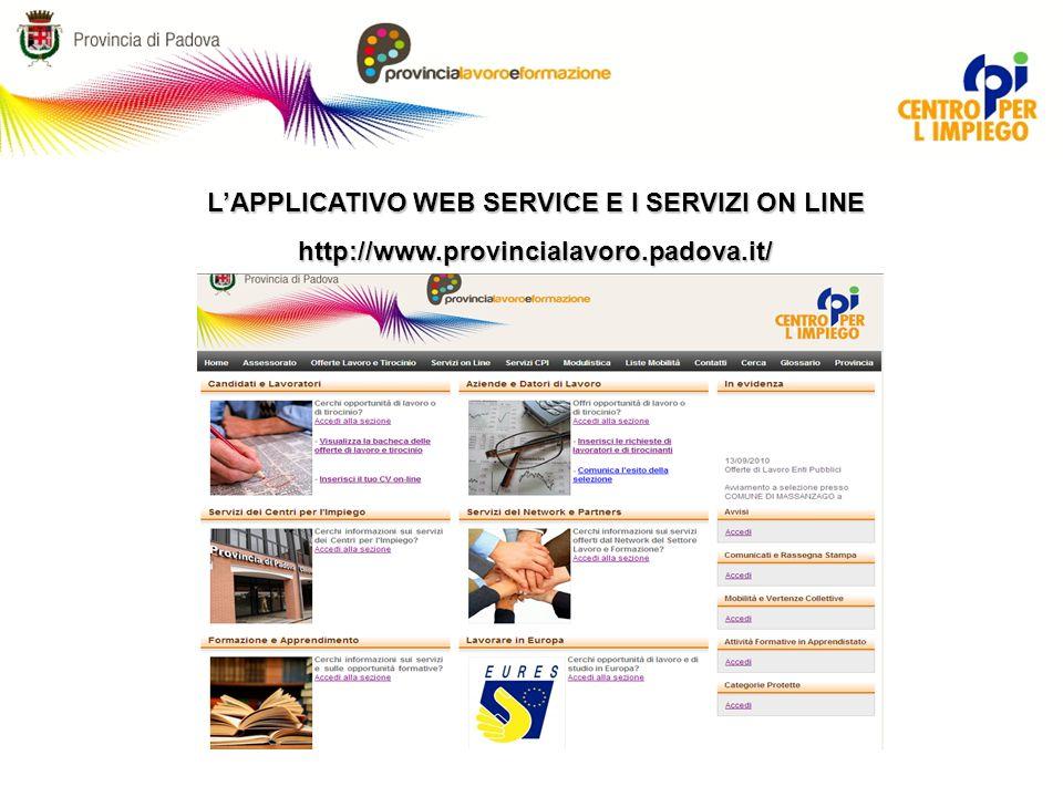 Nuovo Portale lavoro della Provincia di Padova: i servizi all impiego direttamente sul proprio pc