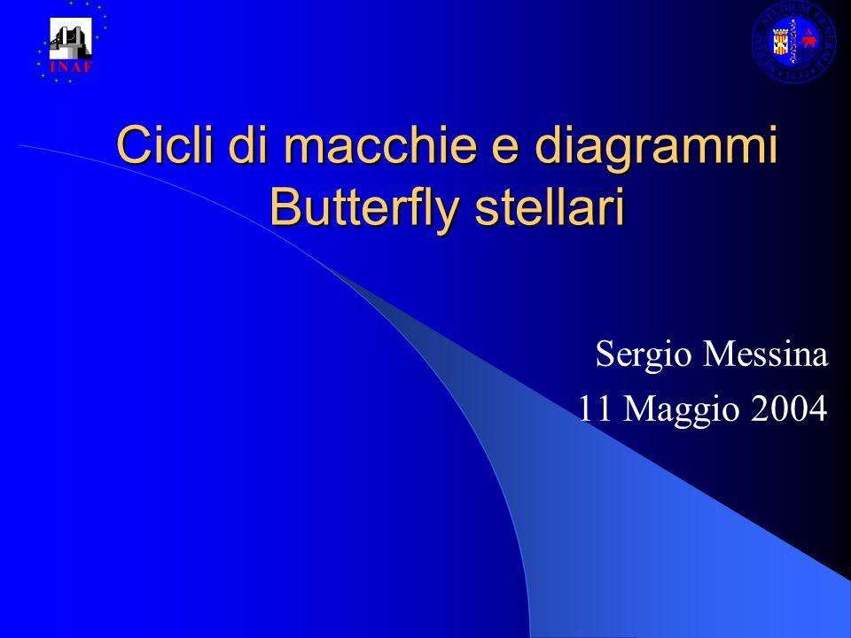 Cicli di macchie e diagrammi Butterfly stellari Sergio Messina 11 Maggio 2004