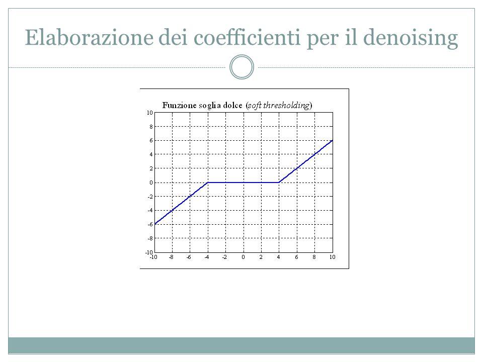 Elaborazione dei coefficienti per il denoising