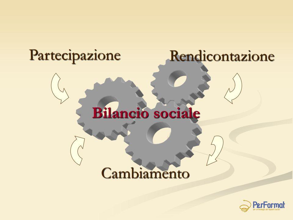 Bilancio sociale Partecipazione Cambiamento Rendicontazione