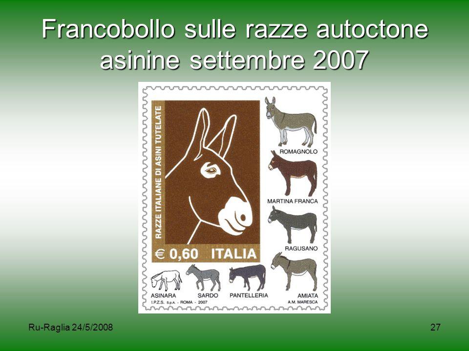 Ru-Raglia 24/5/200827 Francobollo sulle razze autoctone asinine settembre 2007