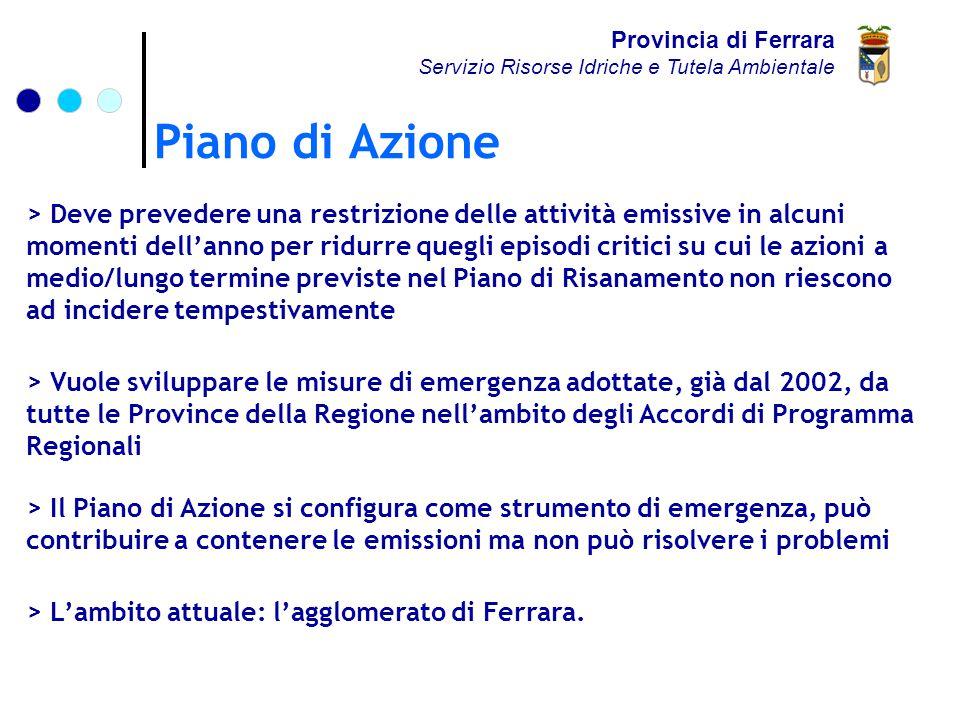 Piano di Azione Provincia di Ferrara Servizio Risorse Idriche e Tutela Ambientale > L'ambito attuale: l'agglomerato di Ferrara.