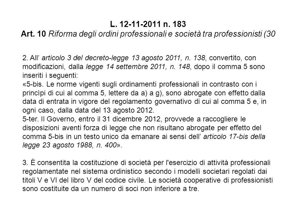 L. 12-11-2011 n. 183 Art.