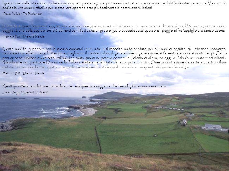 Link  storia d'Irlanda http://www.geocities.com/~info-irlanda/index.html Si posava a larghe falde sulle croci contorte e sulle lapidi, sulle punte del cancelletto, sugli sterili rovi spinosi.