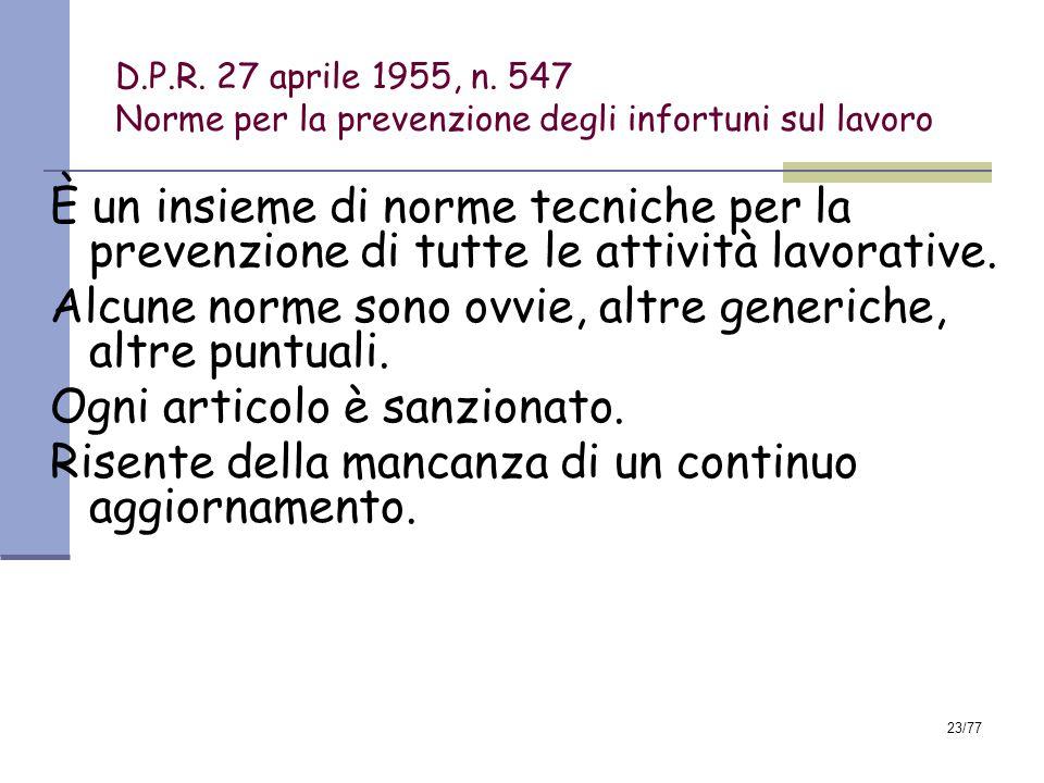 23/77 D.P.R.27 aprile 1955, n.