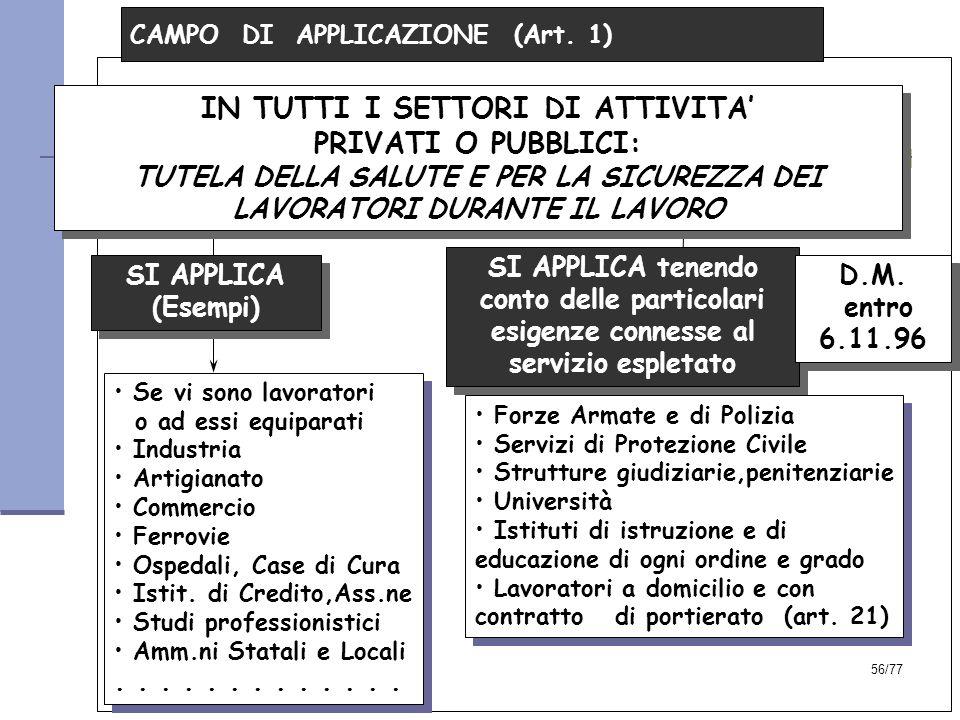 56/77 CAMPO DI APPLICAZIONE (Art.