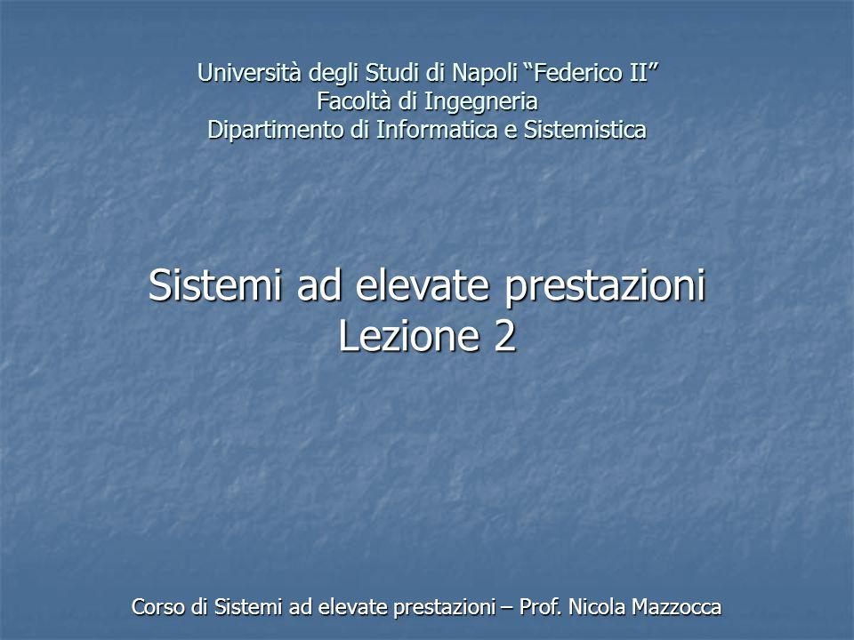 Università degli Studi di Napoli Federico II Facoltà di Ingegneria Dipartimento di Informatica e Sistemistica Corso di Sistemi ad elevate prestazioni – Prof.