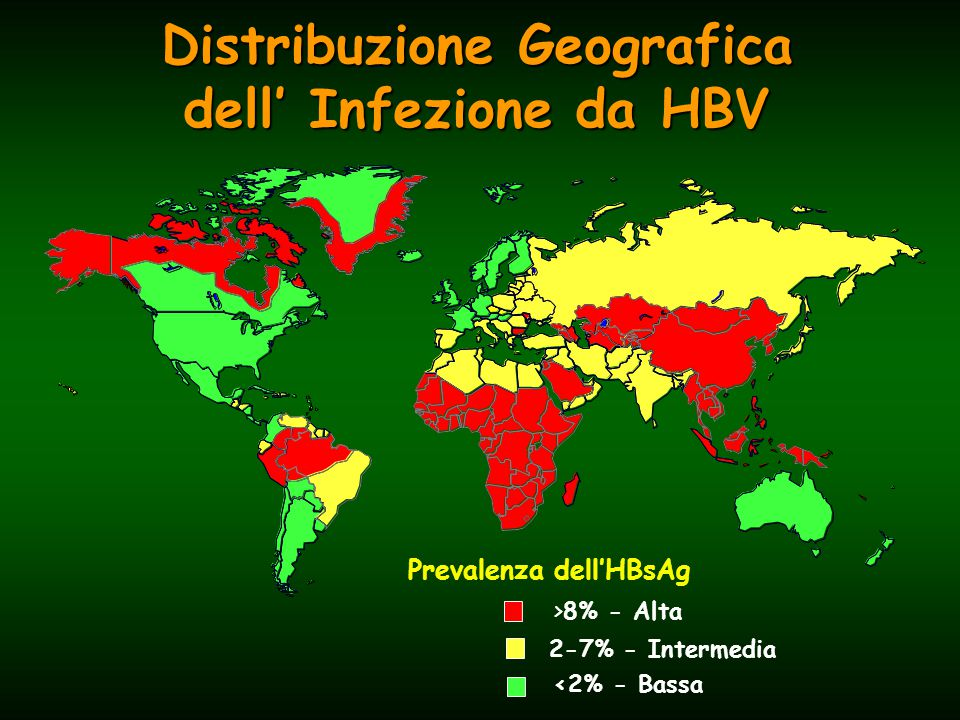 Trasmissione dell'infezione Concentrazione dell'HBV nei liquidi biologici AltaModerata Bassa/Non Rilevabile sanguespermaurine siero fluido vaginale feci feritesalivasudore lacrime latte materno
