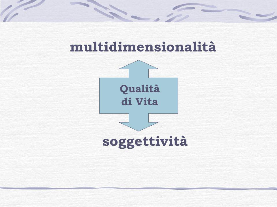 multidimensionalità soggettività Qualità di Vita