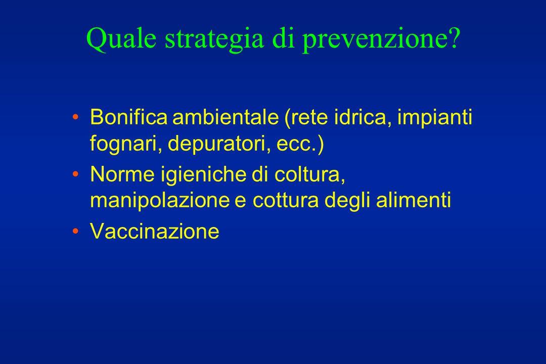 Quale strategia di prevenzione.