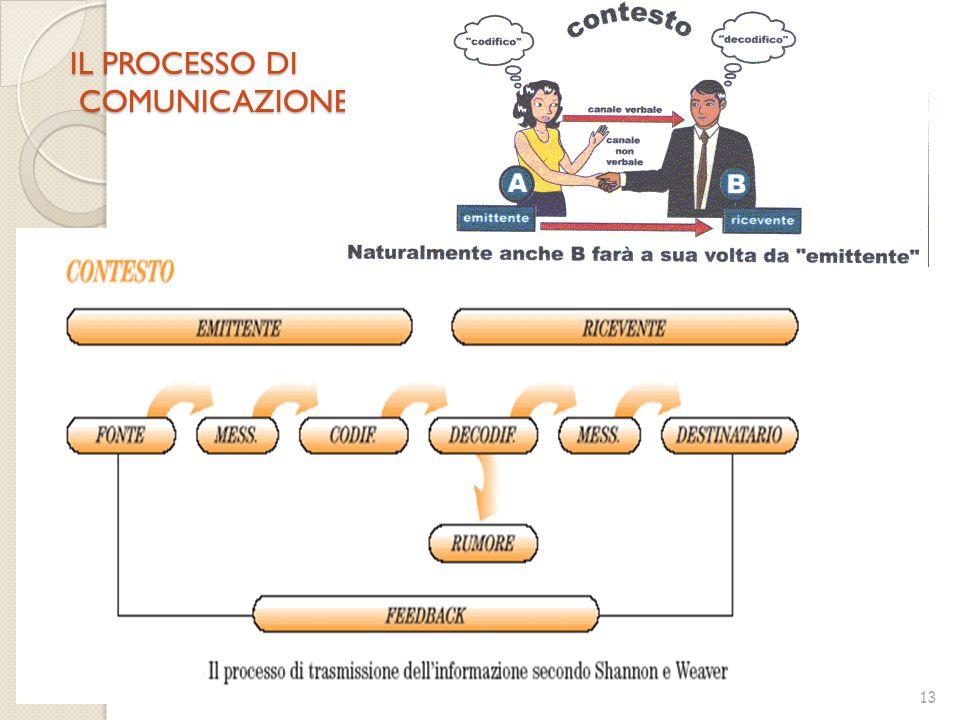 13 IL PROCESSO DI COMUNICAZIONE