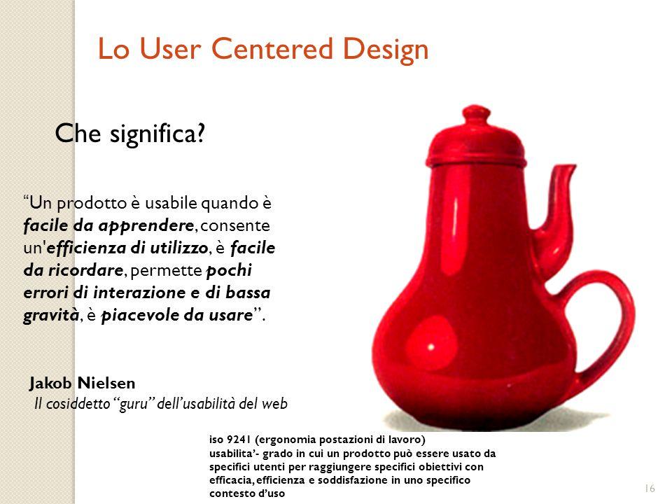 15 Il funzionamento di qualsiasi dispositivo si impara prima e con meno problemi se l'utente dispone di un buon modello concettuale. 5) Modello concet