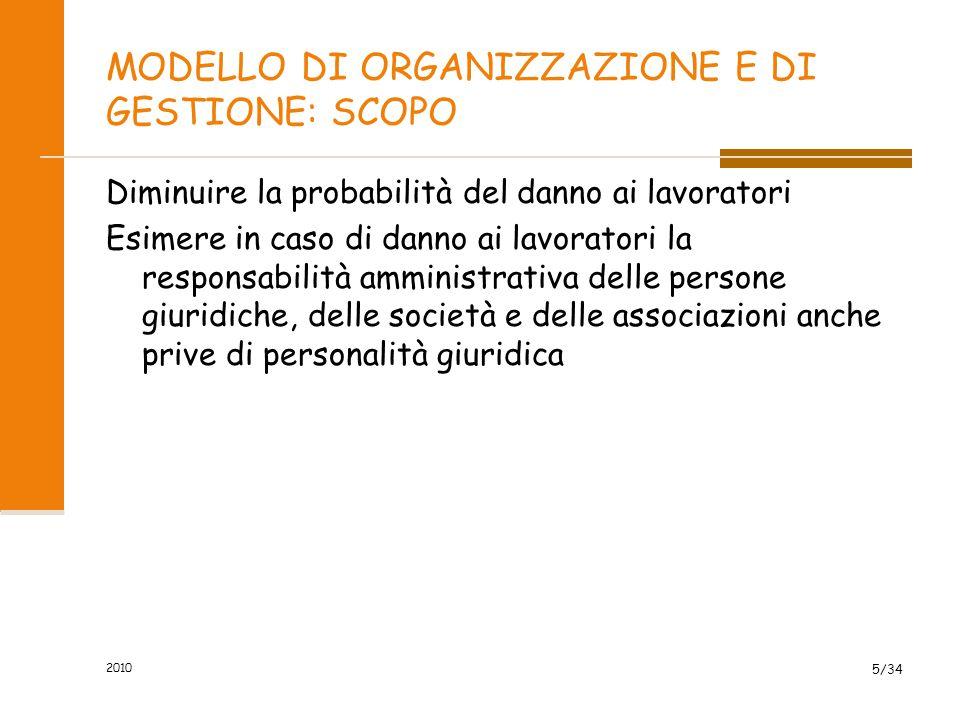 dd) «modello di organizzazione e di gestione»: modello organizzativo e gestionale per la definizione e l'attuazione di una politica aziendale per la salute e sicurezza, ai sensi dell'articolo 6, comma 1, lettera a), del decreto legislativo 8 giugno 2001, n.