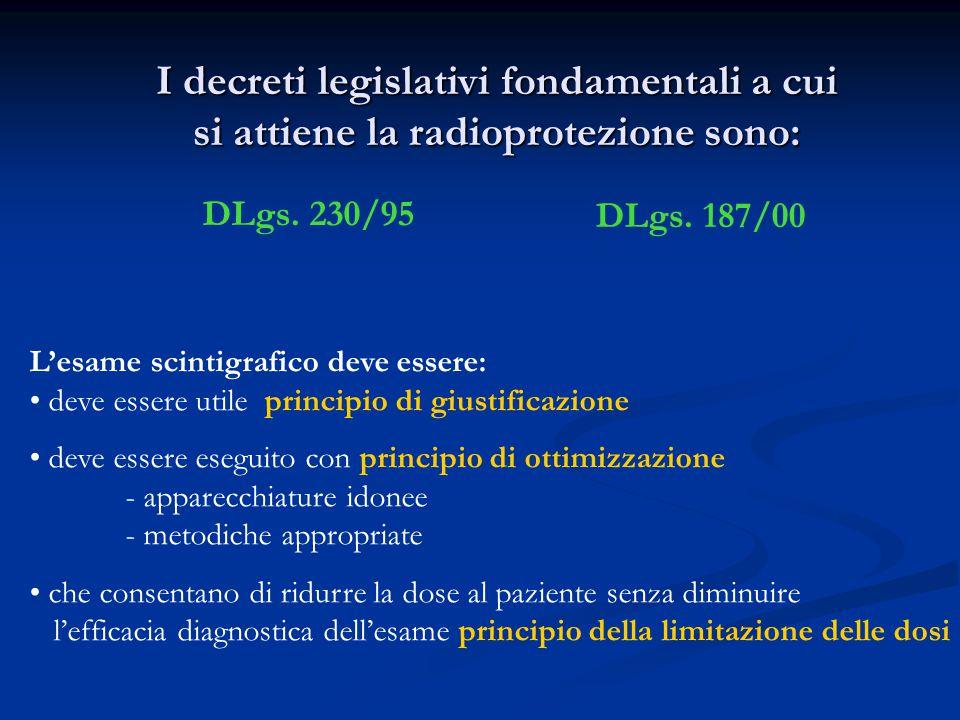 I decreti legislativi fondamentali a cui si attiene la radioprotezione sono: DLgs.