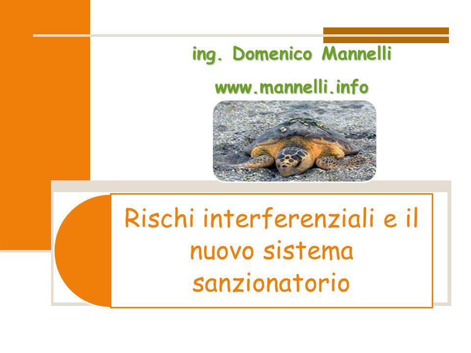 Rischi interferenziali e il nuovo sistema sanzionatorioing. Domenico Mannelli www.mannelli.info