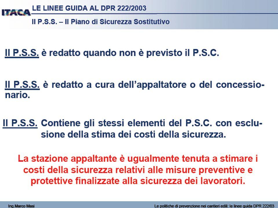 2009 20/51 ELEMENTI MINIMIDEL PIANO DI SICUREZZA E DI COORDINAMENTO SECONDO L'ALLEGATO XV g) le modalità organizzative della cooperazione e del coordinamento, nonché della reciproca informazione, fra i datori di lavoro e tra questi ed i lavoratori autonomi; Il CSP è chiamato ad esplicitare nel piano come intende organizzare la cooperazione, il coordinamento, la reciproca informazione; potrà quindi utilizzare l'indicazione dei momenti in cui effettuare le riunioni e dei soggetti che devono parteciparvi per rendere efficace la trasmissione delle informazioni necessarie alla conoscenza dei processi da mettere in atto.