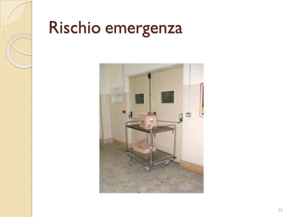 Rischio emergenza 39