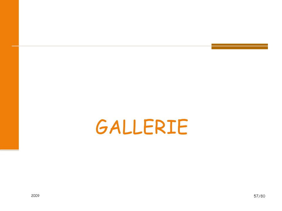 2009 57/80 GALLERIE