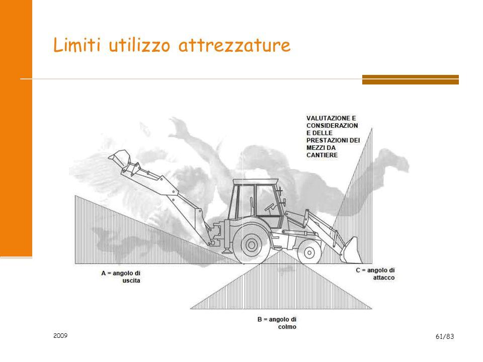 Limiti utilizzo attrezzature 2009 61/83