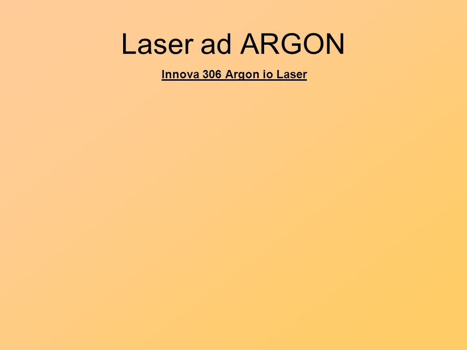 Laser ad ARGON Innova 306 Argon io Laser