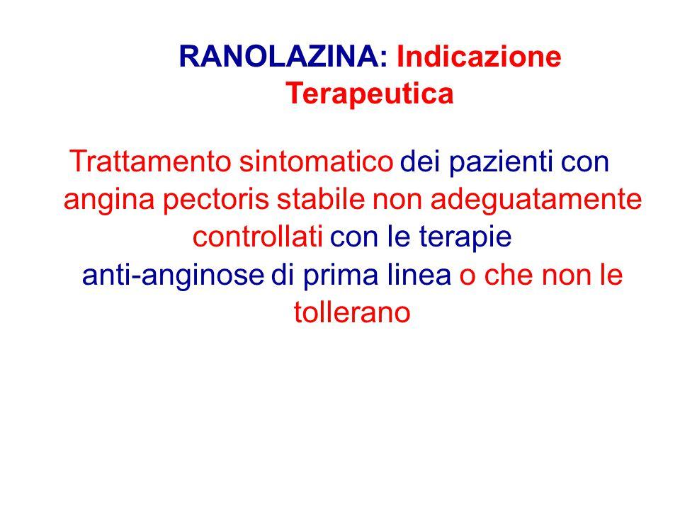 Trattamento sintomatico dei pazienti con angina pectoris stabile non adeguatamente controllati con le terapie anti-anginose di prima linea o che non l