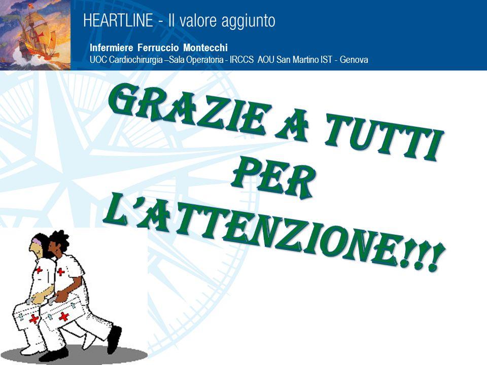 Infermiere Ferruccio Montecchi UOC Cardiochirurgia –Sala Operatoria - IRCCS AOU San Martino IST - Genova