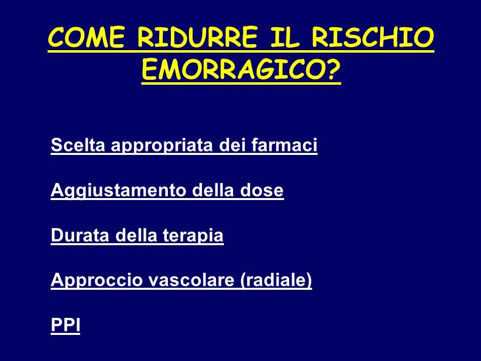 COME RIDURRE IL RISCHIO EMORRAGICO.
