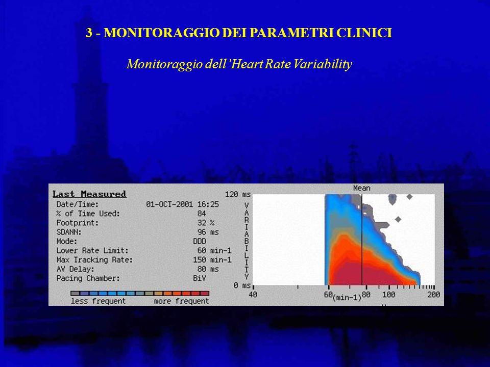 3 - MONITORAGGIO DEI PARAMETRI CLINICI Monitoraggio dell'Heart Rate Variability