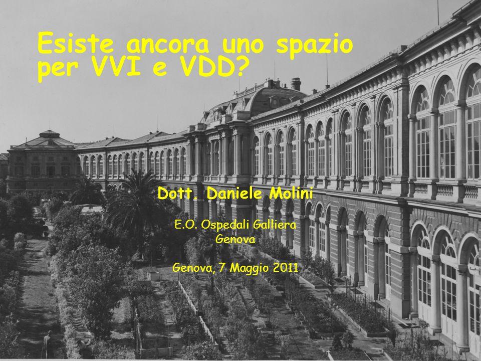 Dott. Daniele Molini E.O. Ospedali Galliera Genova Genova, 7 Maggio 2011 Esiste ancora uno spazio per VVI e VDD?