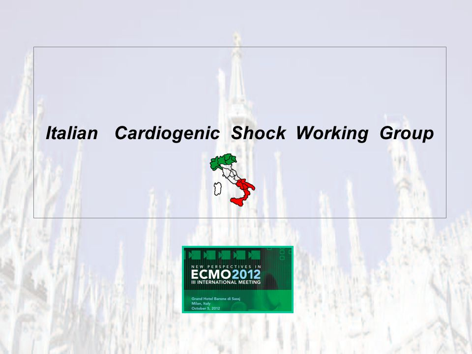 Group of physicians and other medical professional to clarify the management of Cardiogenic Shock in Italy Condivision of Experience & Opinion