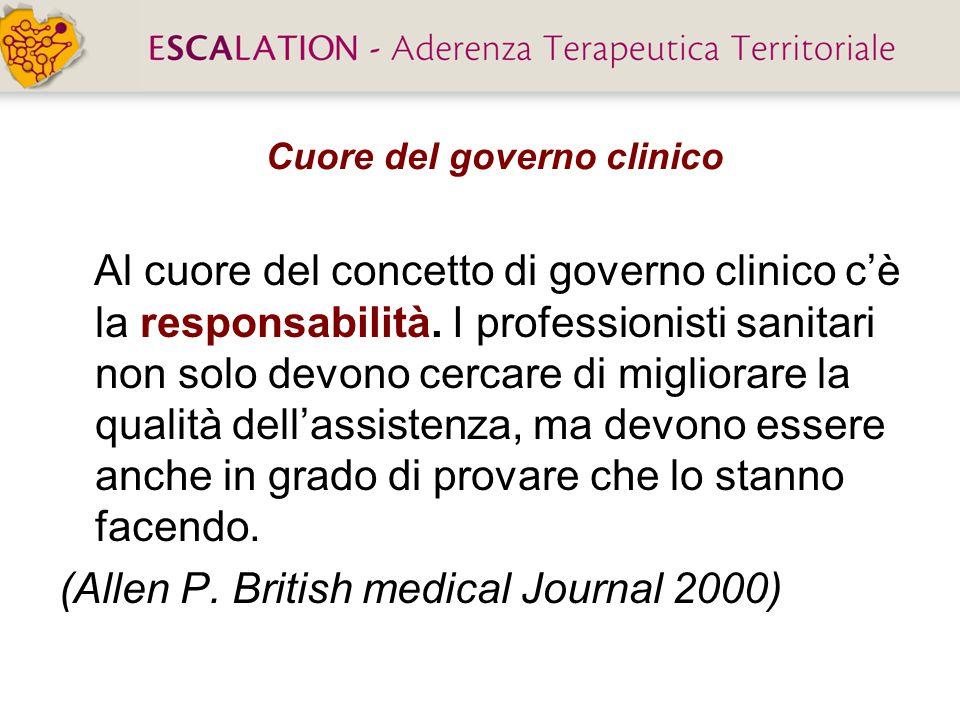 Cuore del governo clinico Al cuore del concetto di governo clinico c'è la responsabilità. I professionisti sanitari non solo devono cercare di miglior