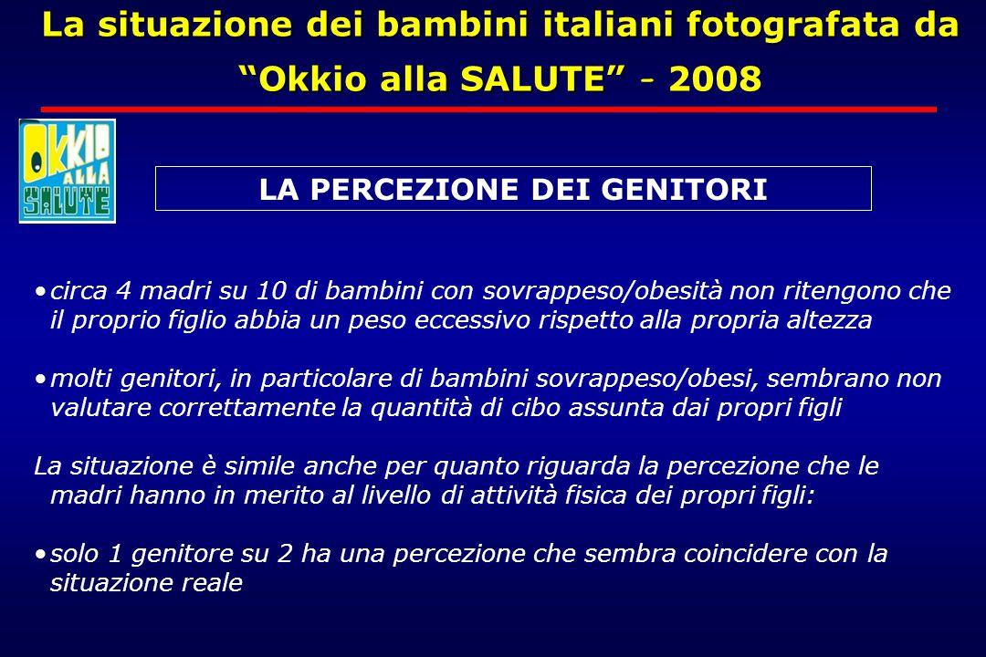"""La situazione dei bambini italiani fotografata da """"Okkio alla SALUTE"""" La situazione dei bambini italiani fotografata da """"Okkio alla SALUTE"""" - 2008 cir"""